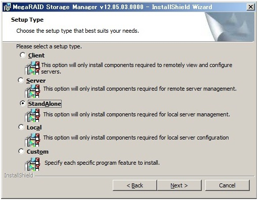 Avago MegaRAID Storage Managerのインストール | OTTOSERVER