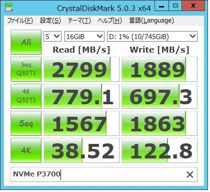 NVMe P3700 16G